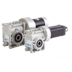 Motoréducteur Brushless IP20 Roue et vis CM026 i15 Ø12 BL012 267t/mn 24V 52W  avec carte électronique intégrée et codeur 24cpr