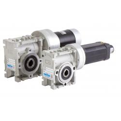 Motoréducteur Brushless IP20 Roue et vis CM026 i20 Ø12 BL018 200t/mn 24V 78W  avec carte électronique intégrée et codeur 24cpr