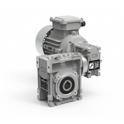Motoréducteur Roue et Vis CMM026/030 i900 Ø14 taille 56 4pôles 0,06Kw IE1 B14