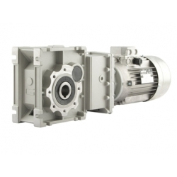 Motoréducteur Orthogonal CMB402U i59,06 Ø18 Taille 56 4 pôles 0,06Kw IE1 B5 alu