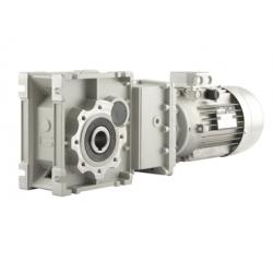 Motoréducteur Orthogonal CMB402U i72,5 Ø18 Taille 56 4 pôles 0,06Kw IE1 B14 alu