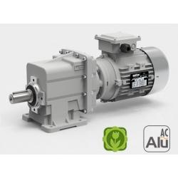 Motoréducteur Coaxial CMG002 i13,4 Ø16 Taille56 4pôles 0,06Kw IE1 B14 sans pattes alu