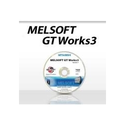 GT Works3, Logiciel GOT1000/GOT2000 et GT SoftGOT, Anglais, DVD, 2 licences PC